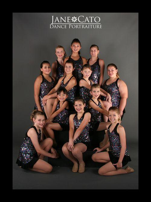 Jane Cato Jazz Dance Group Pose