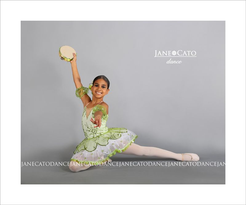 Young Ballerina Sitting Pose Cato